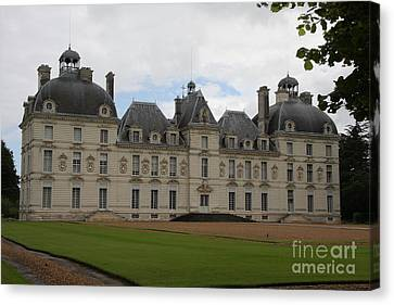 Chateau Cheverney - Front View Canvas Print by Christiane Schulze Art And Photography