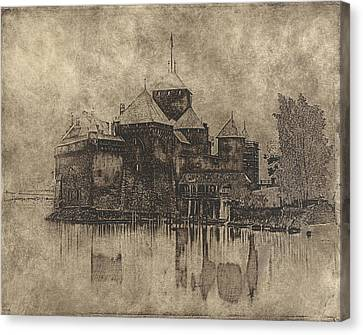 Chateau De Chillon  Canvas Print by Gary Auerbach