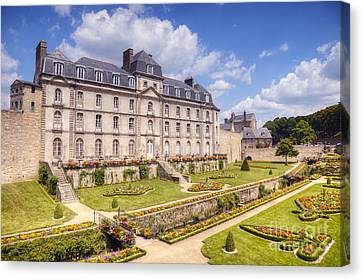Chateau Canvas Print - Chateau De L Hermine Vannes Brittany by Colin and Linda McKie