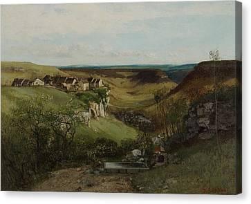 Chateau Dornans Canvas Print by Gustave Courbet