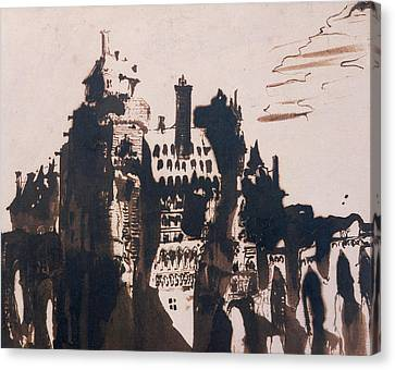 Chateau Fortified By Two Bridges Canvas Print by Victor Hugo
