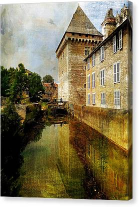 Chateau French Countryside Canvas Print by Elaine Frink