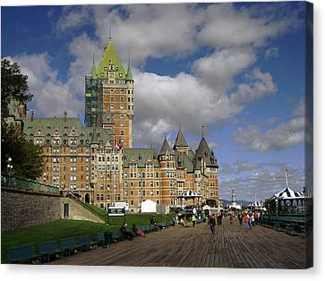 Chateau Frontenac Quebec City Canvas Print by Nicky Jameson