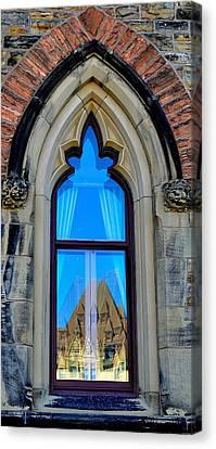 Chateau Laurier - Parlaiment Window - Reflection # 6 Canvas Print