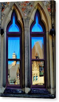 Chateau Laurier - Parlaiment Window - Reflection # 1 Canvas Print