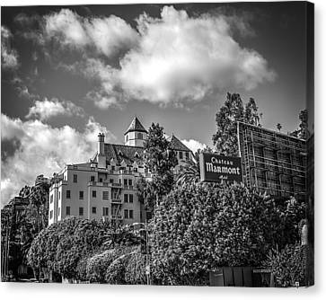 Chateau Marmont B/w Canvas Print by Robert Fowler