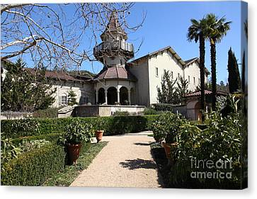 Chateau St. Jean Winery 5d22202 Canvas Print by Wingsdomain Art and Photography