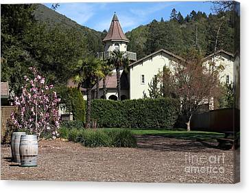 Chateau St. Jean Winery 5d22209 Canvas Print by Wingsdomain Art and Photography