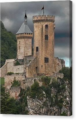 Chateau Tower Colour Canvas Print by John Topman