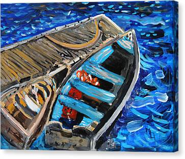 Canvas Print featuring the painting Chatham Blue by Michael Helfen