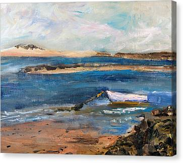 Chatham Boat In The Cove Canvas Print