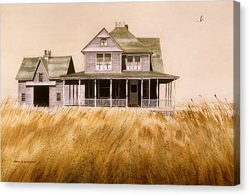 Chatham Derelict Canvas Print by Karol Wyckoff