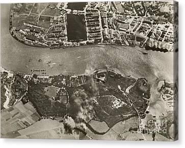 Chatham Dockyards Air Raid, World War II Canvas Print