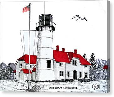 Chatham Lighthouse Drawing Canvas Print by Frederic Kohli