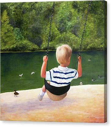Chattahoochee Swinging Canvas Print by Robin Chaffin