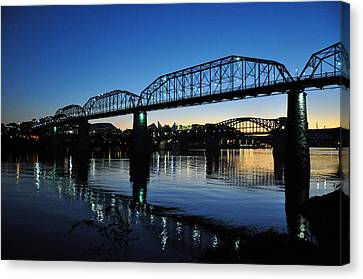 Tennessee River Bridges Chattanooga Canvas Print by Matthew Chapman