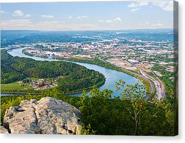 Chattanooga Spring Skyline Canvas Print by Melinda Fawver