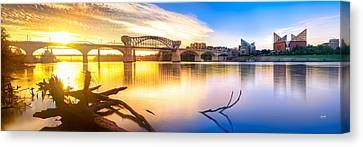 Chattanooga Sunrise 2 Canvas Print by Steven Llorca