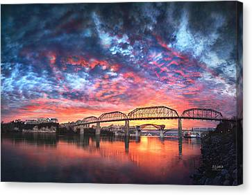 Chattanooga Sunset 4 Canvas Print by Steven Llorca