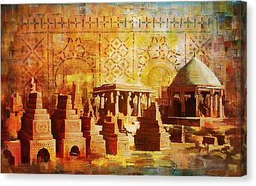 Chaukhandi Tombs Canvas Print by Catf