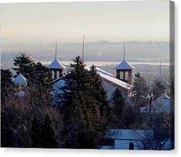 Chautauqua Auditorium At Sunrise Canvas Print