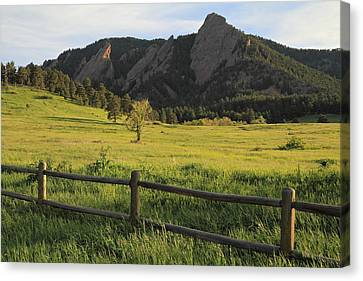 Chautauqua Park And Flatirons Canvas Print by Scott Rackers