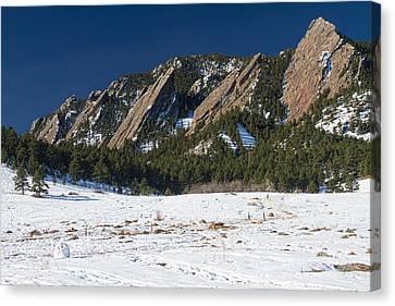 Winter Landscape Canvas Print - Chautauqua Park Boulder Colorado Winter View by James BO  Insogna