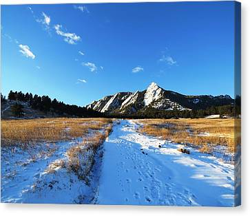 Chautauqua Powder-draped Canvas Print