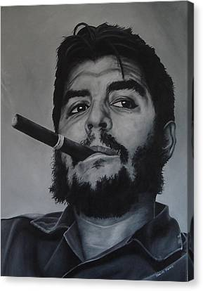 Che Guevara Canvas Print by David Dunne