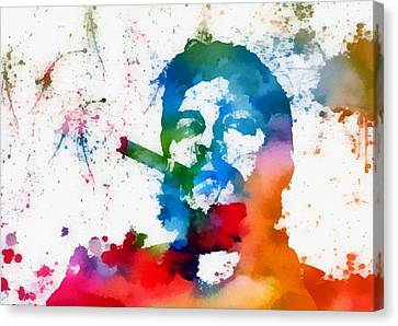 Che Guevara Paint Splatter Canvas Print