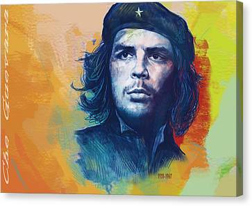 Che Guevara Stylised Modern Drawing Art Sketch Canvas Print by Kim Wang