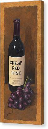 Cheap Red Wine Canvas Print by Terri  Meyer