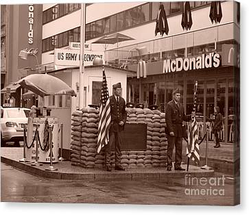 Check Point Charlie Canvas Print