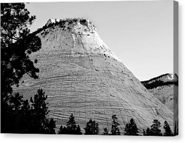 Checkerboard Mesa Black And White Canvas Print by Jemmy Archer