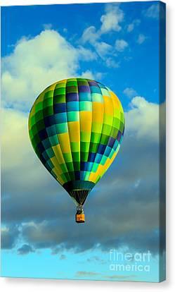 Checkered Balloon Canvas Print by Robert Bales