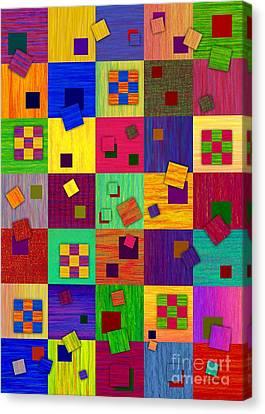 Checkered Canvas Print by David K Small