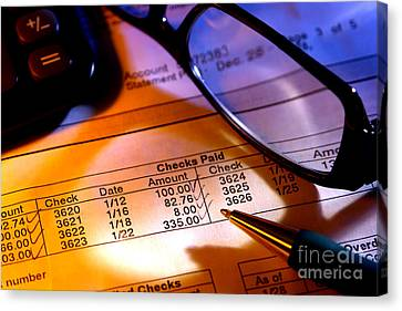 Checking Account Statement Canvas Print