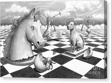 Checkmate Canvas Print by Denise M Cassano