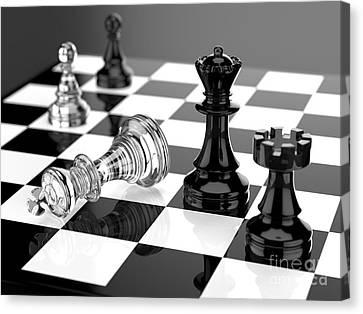 Checkmate Canvas Print by Tomislav Zivkovic