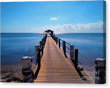 Cheeca Pier Canvas Print
