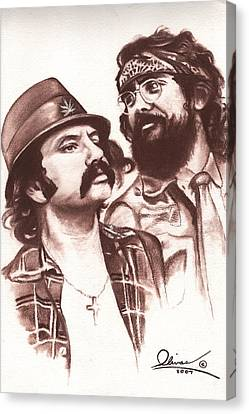 Cheech And Chong Canvas Print by Bill Olivas