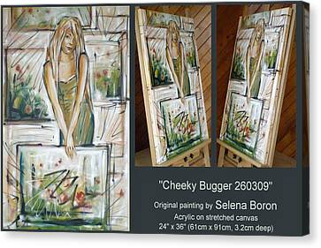 Canvas Print featuring the painting Cheeky Bugger 260309 Comp by Selena Boron