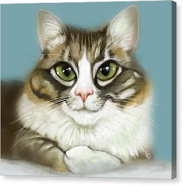 Cheeky Cat Canvas Print