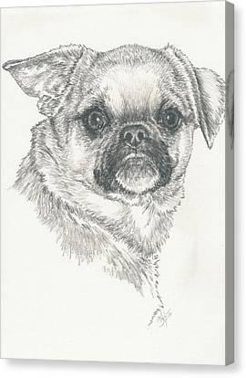 Cheeky Cheeks Canvas Print by Barbara Keith