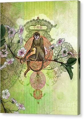 Cheeky Monkey Canvas Print by Aimee Stewart