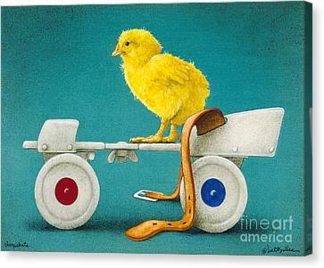 Roller Skates Canvas Print - Cheepskate... by Will Bullas