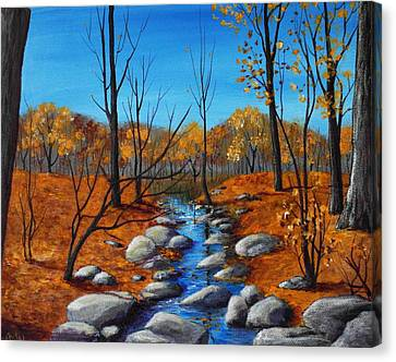 Cheerful Fall Canvas Print by Anastasiya Malakhova