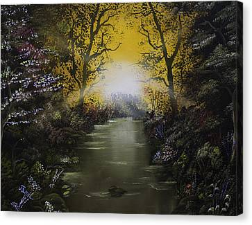 Cheerful Sunrise  Canvas Print by Jamil Alkhoury