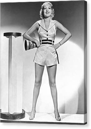 Cheerleader Betty Grable Canvas Print by Underwood Archives