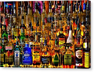Cheers - Alcohol Galore Canvas Print by David Patterson